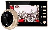 Mirilla Digital, Cámara Mirilla,Visor de Mirilla de Puerta Pantalla HD 4.3 Inch Color+Función de...