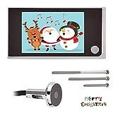 Mini 720P Pantalla HD Visor de cámara de mirilla electrónica para exteriores Pantalla LCD a color...